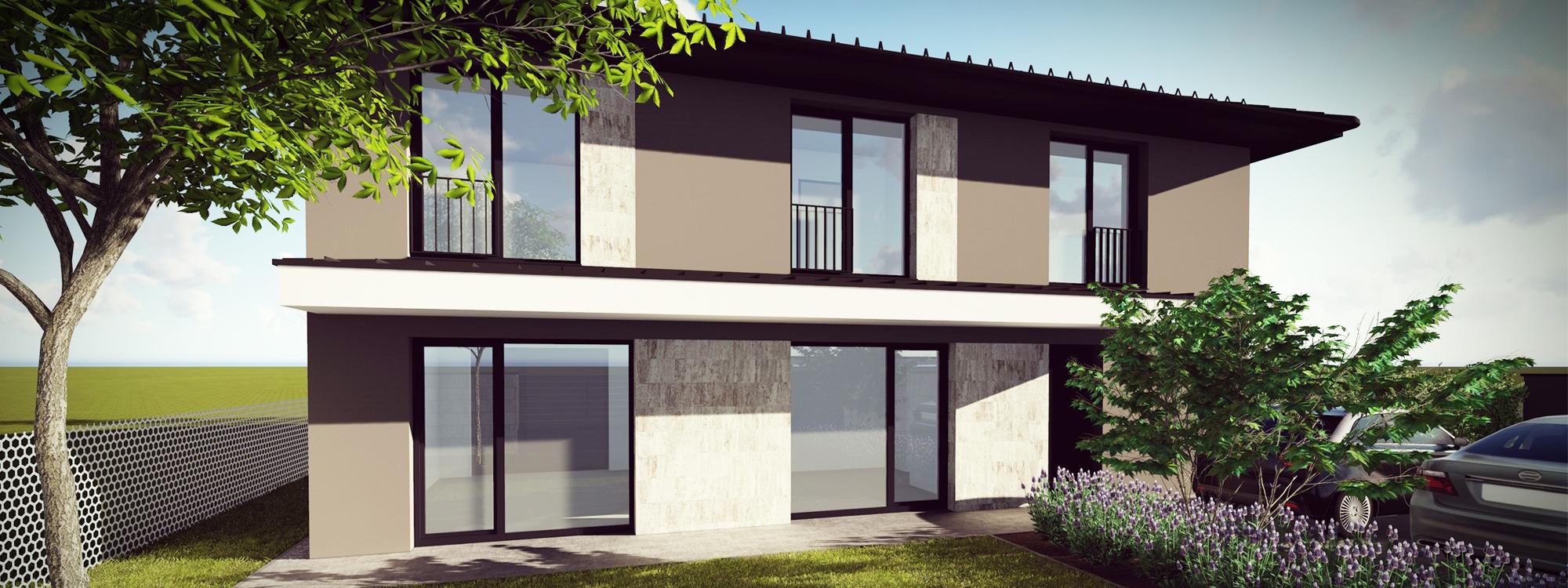 Luxus kivitelű panorámás újépítésű ikerház Rákosligeten eladó